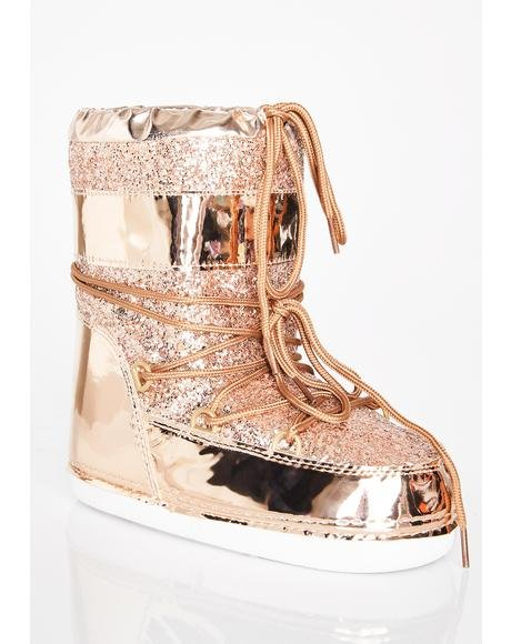 Rose Golden Journey To Mars Boots