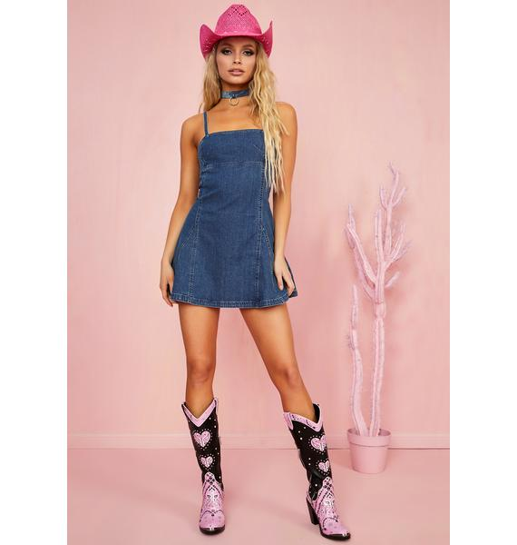 Sugar Thrillz Dime Store Cowgirl Denim Dress