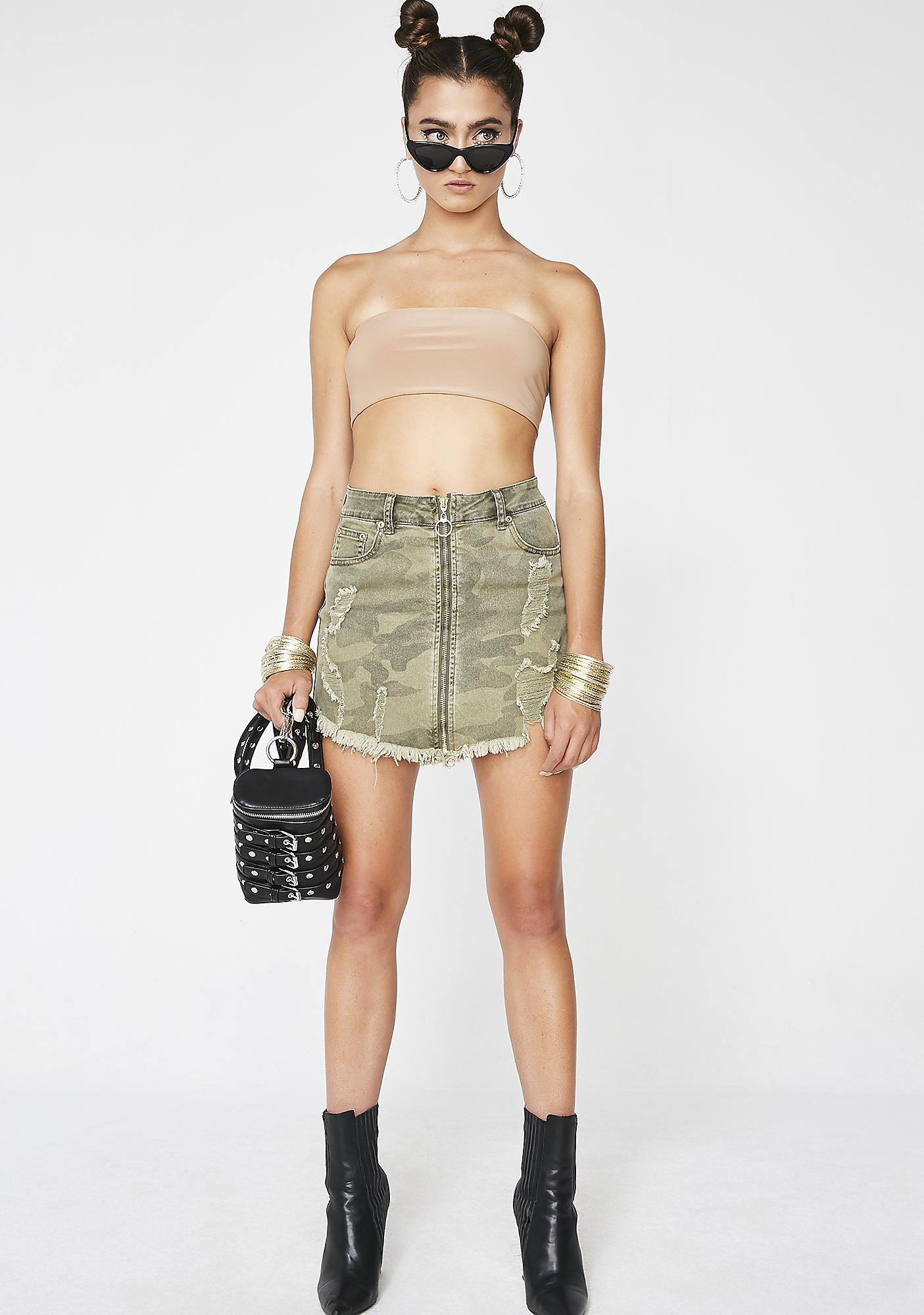 Jungle Bae Camo Skirt