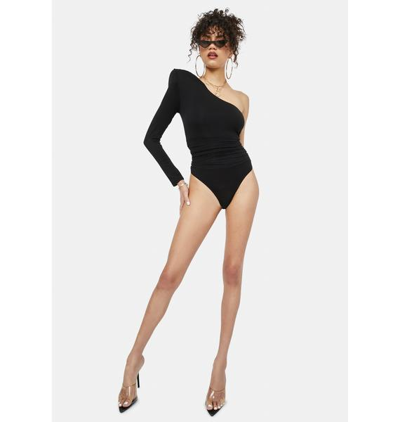 Inclined To Believe One Shoulder Bodysuit