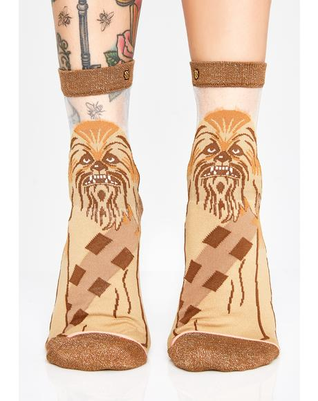 Chewbacca Monofilament Socks