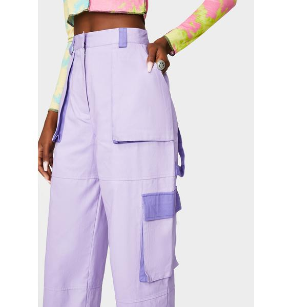 The Ragged Priest Lilac Turbo Combat Pants
