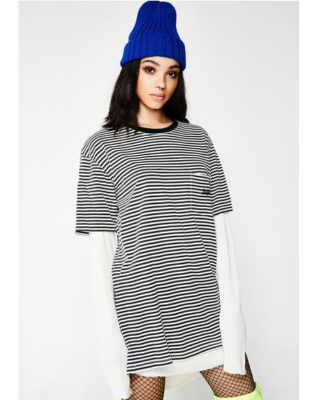 Stripe Submerged Long Sleeve Tee