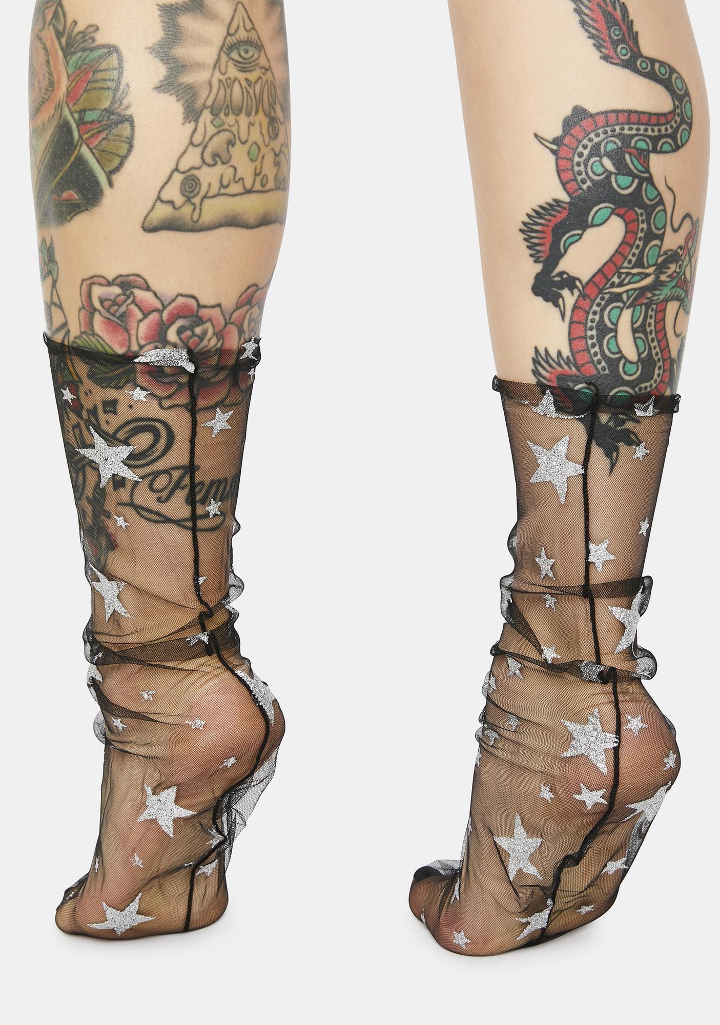 Shinin' Star Sheer Socks