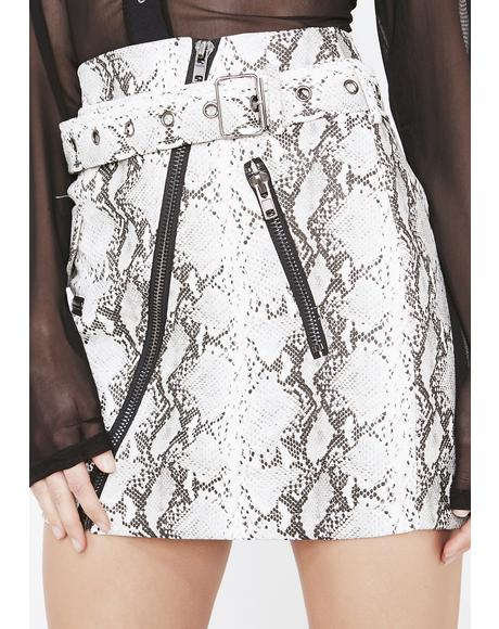 Obey Me Belted Skirt