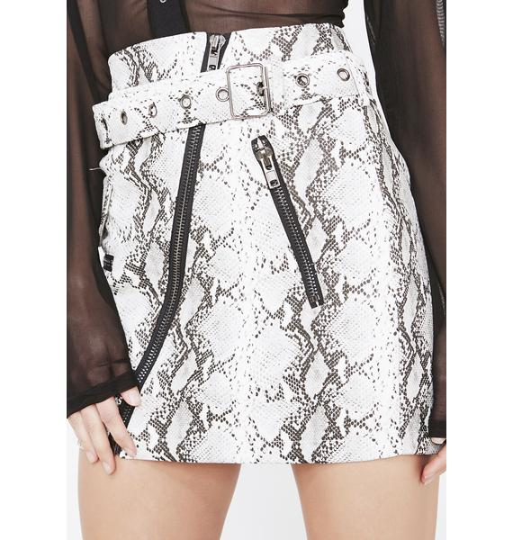 Honey Punch Obey Me Belted Skirt