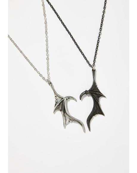 Darkling Heart Friendship Necklaces