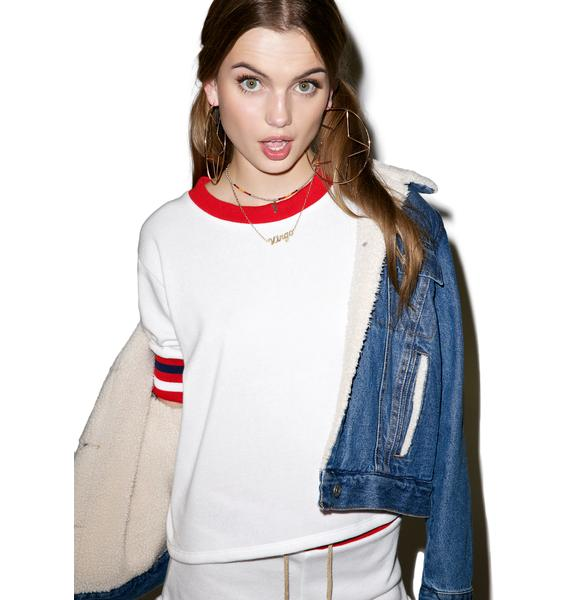 Camp Collection Cropped Varsity Sweatshirt