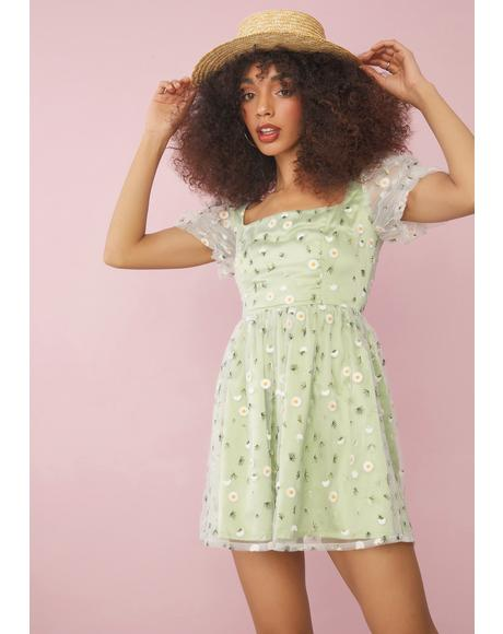Come Away With Me Daisy Babydoll Dress