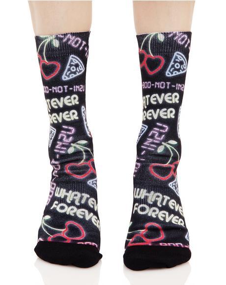 Cooties Crew Socks