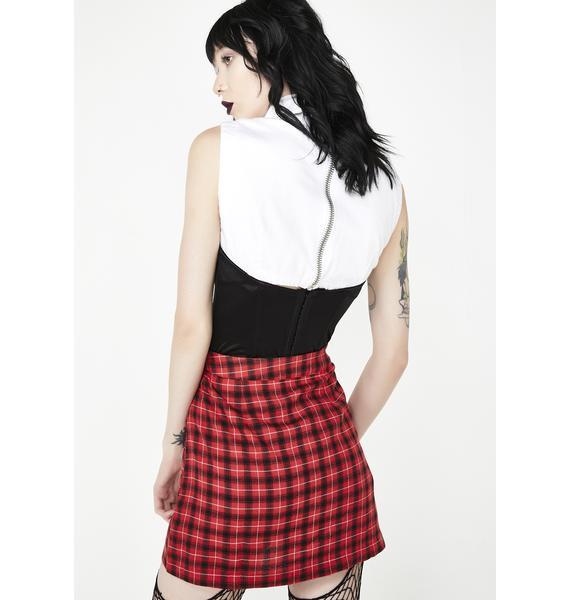 Devil Class Dismissed Plaid Skirt