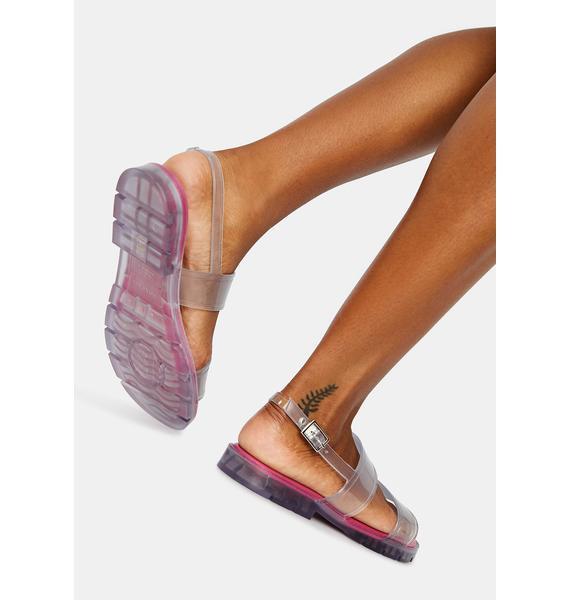 Petite Jolie Pink Arlington Jelly Sandals