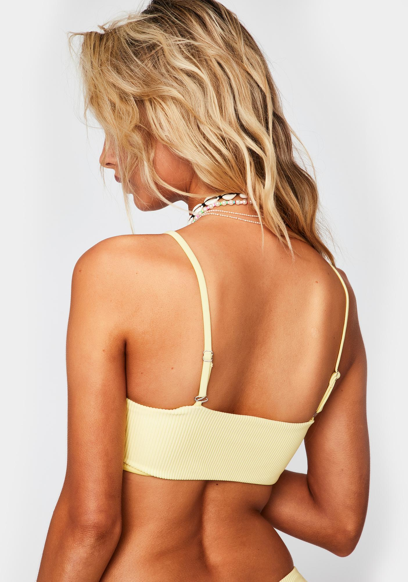 Frankies Bikinis Daffodil Enzo Bikini Top