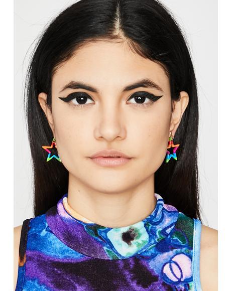 Star BB Rainbow Earrings