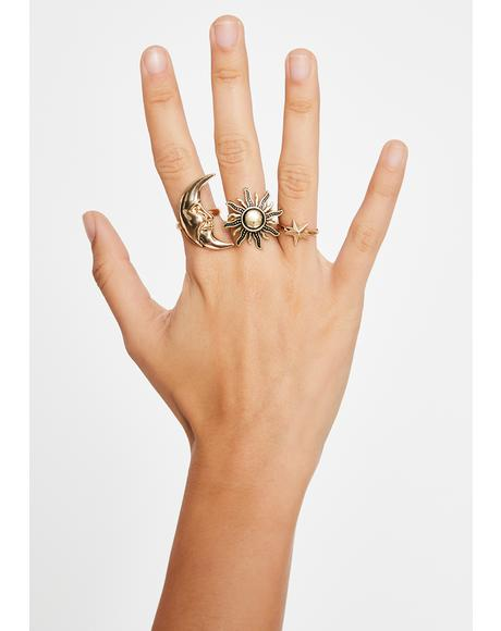 Orion's Belt Ring Set