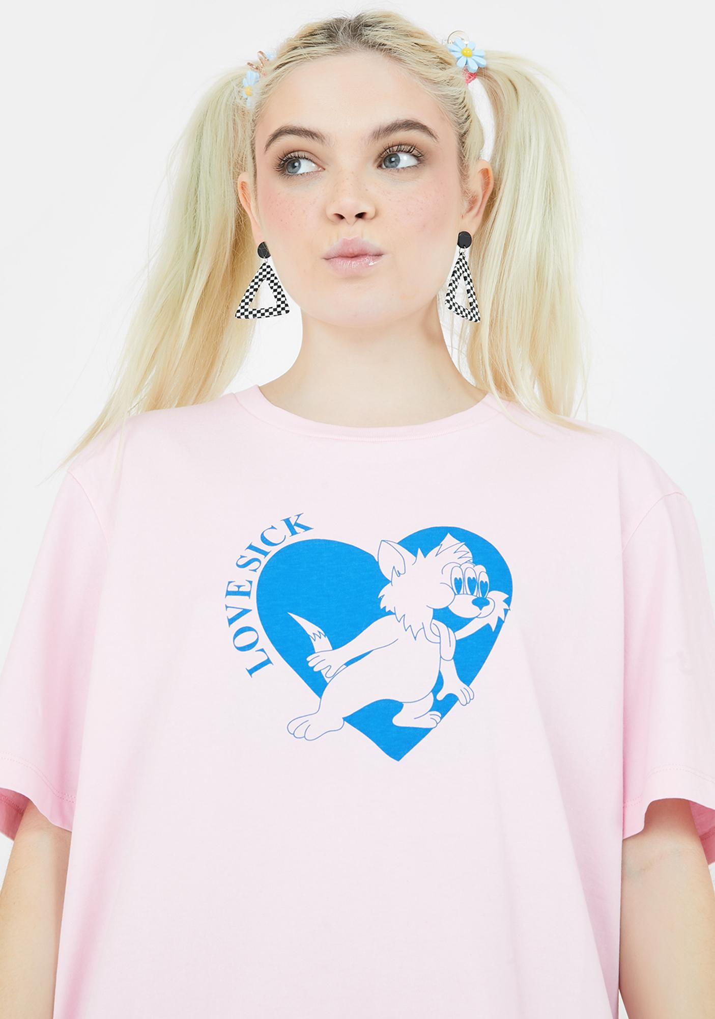 Lazy Oaf Lovesick Kitty Graphic Tee