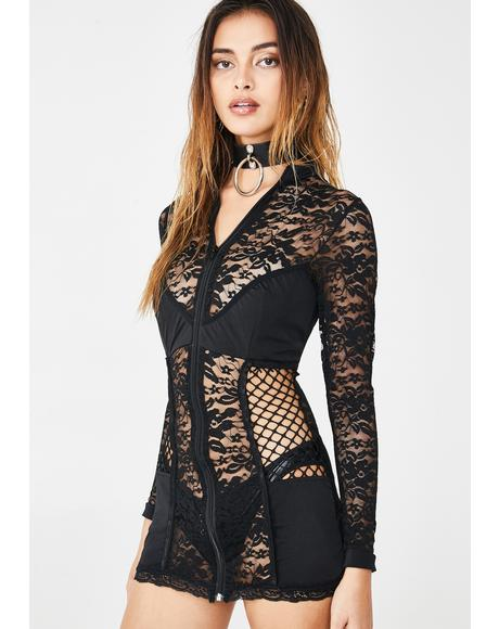 Eyez On Me Lace Mini Dress