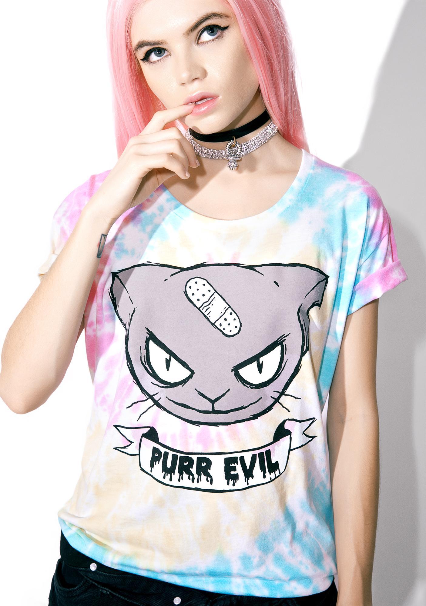 Purr Evil Tie Dye Tee