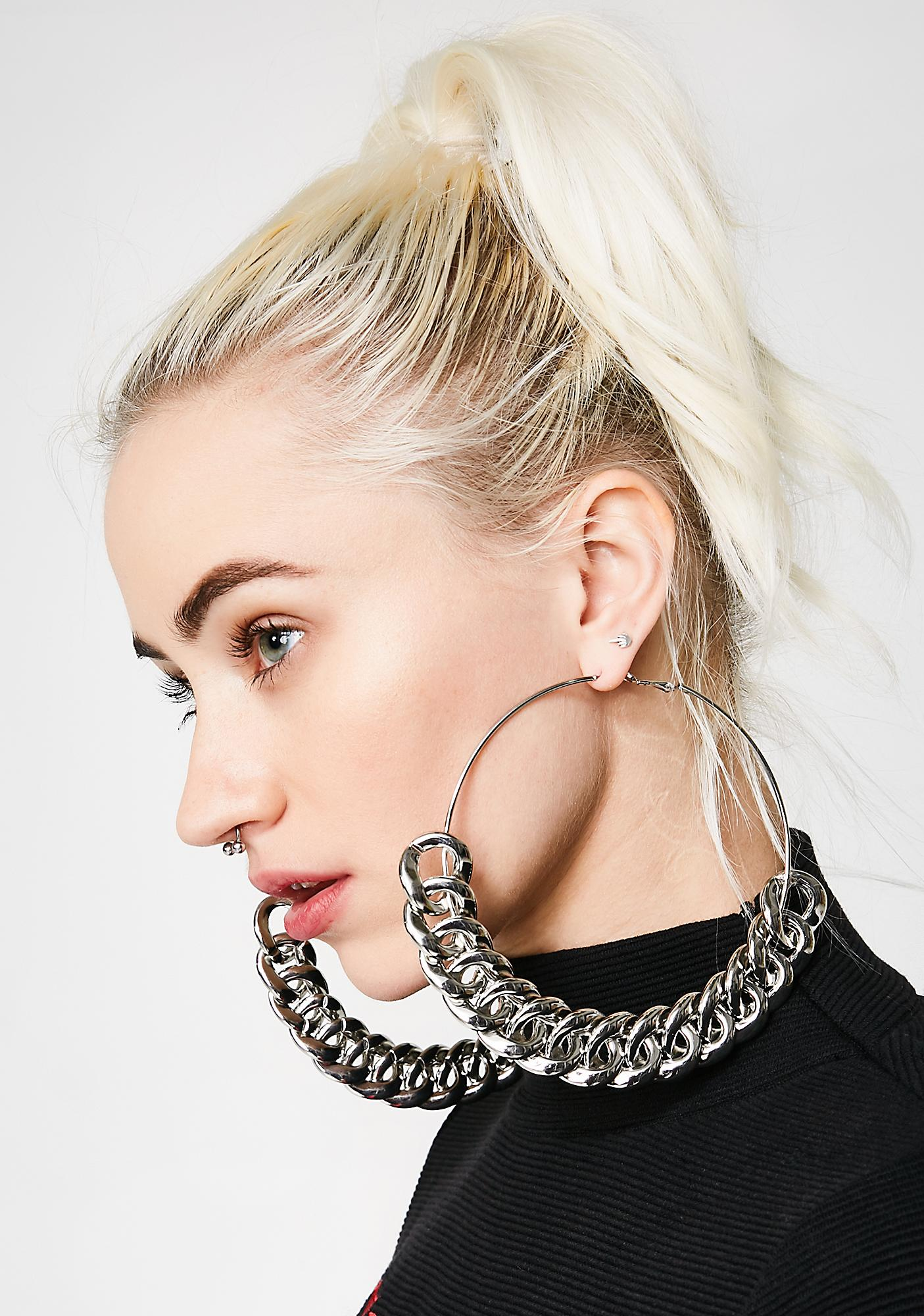 Chain Gang Hoop Earrings