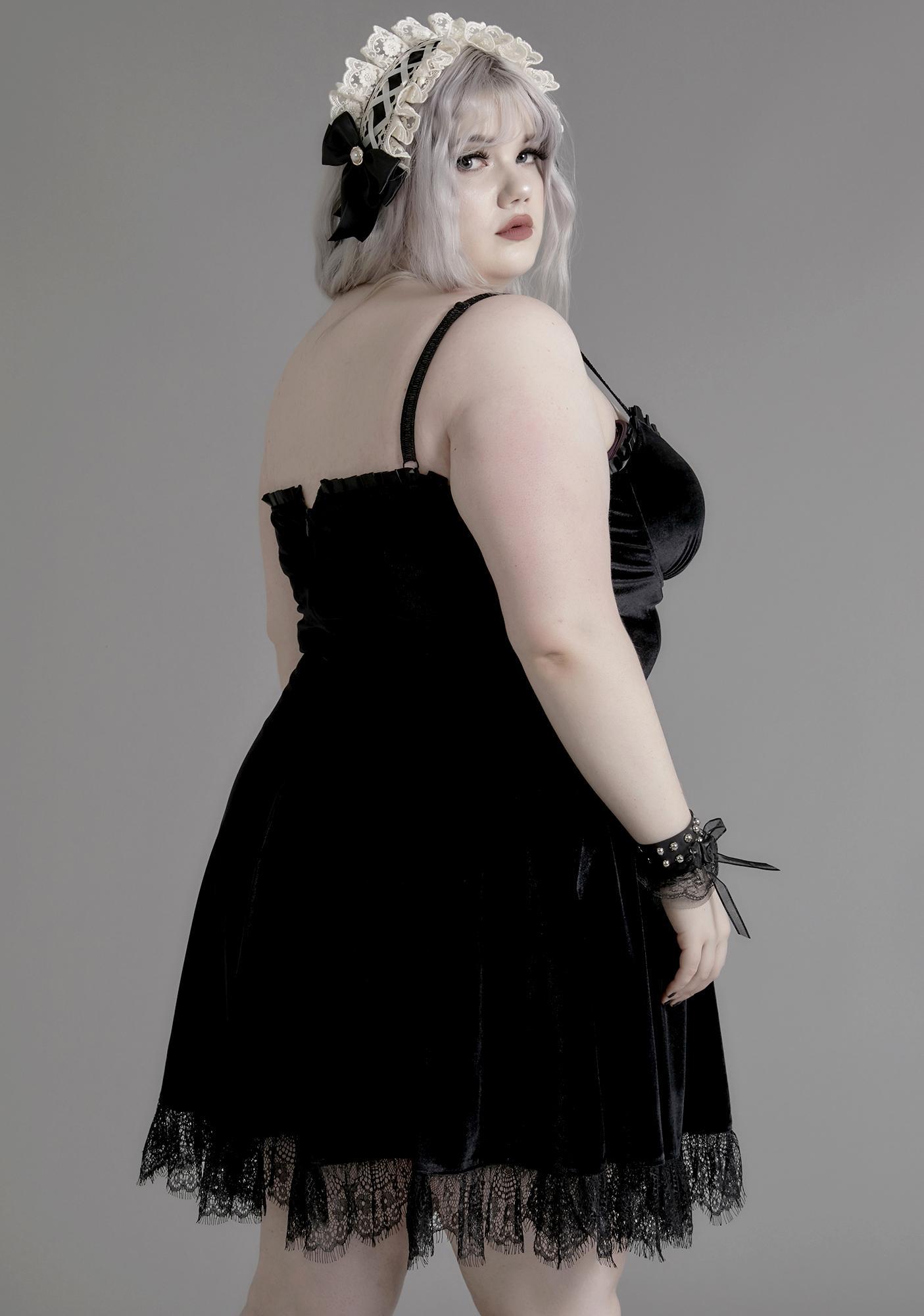 Widow Midnight Her Blind Faith Velvet Dress