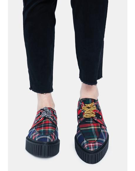 Riot Squad Mixed Plaid Creepers