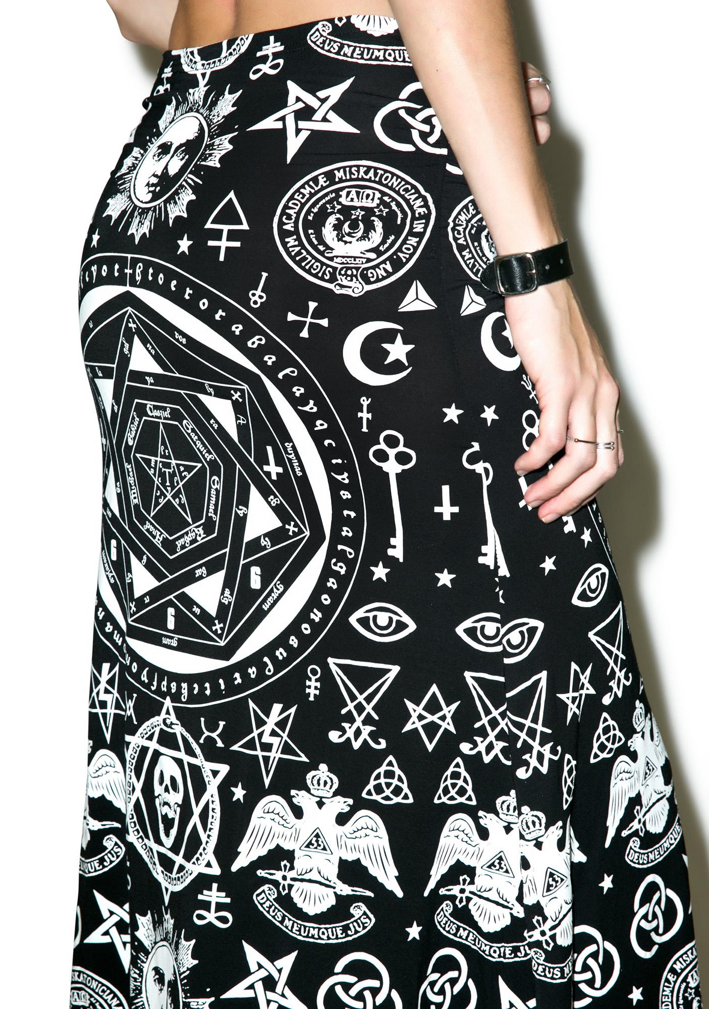 Killstar Praise Occult Maxi Skirt