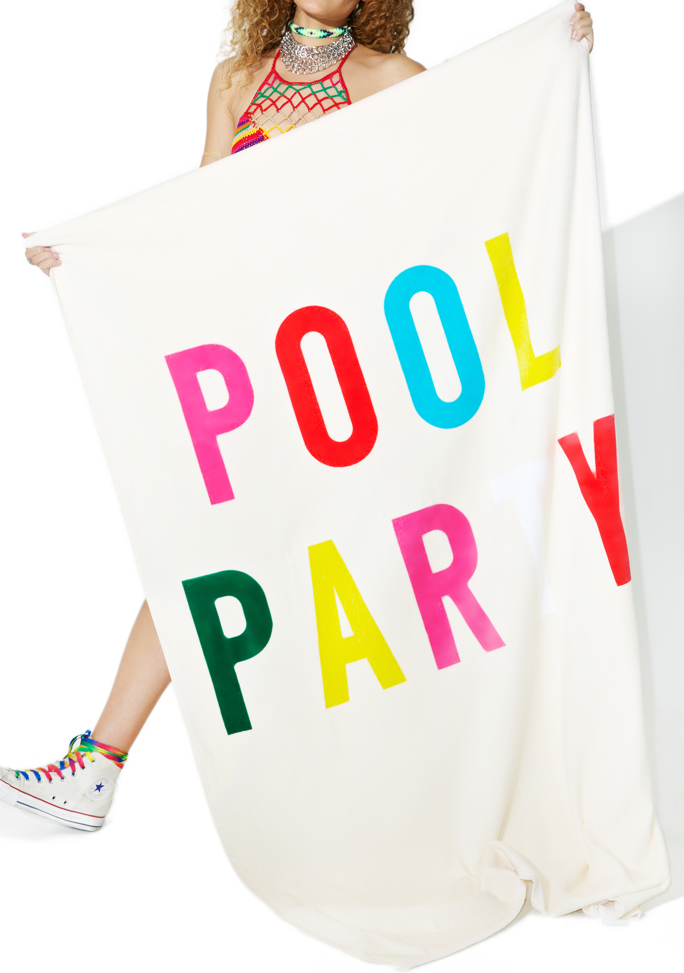 Poolside Party Giant Beach Towel