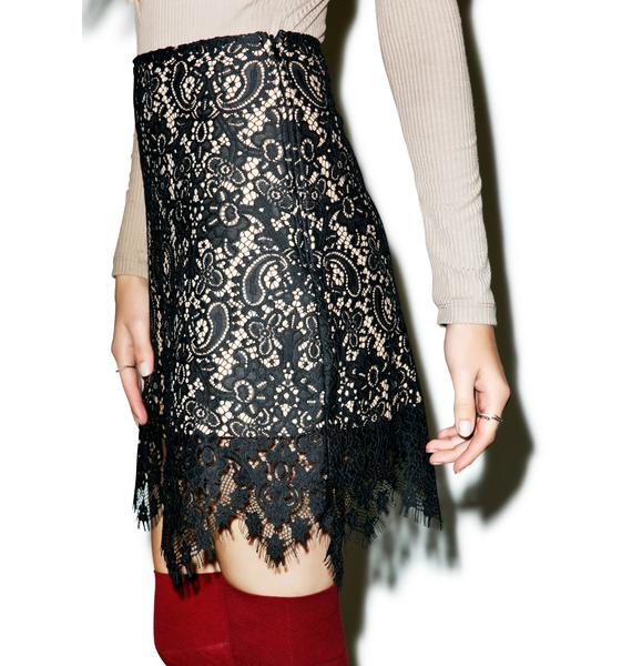 For Love & Lemons Vika Mini Skirt
