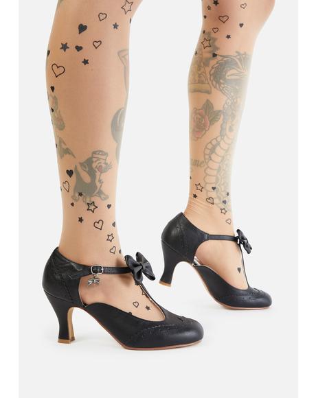 Flapper Bow Tie Heels