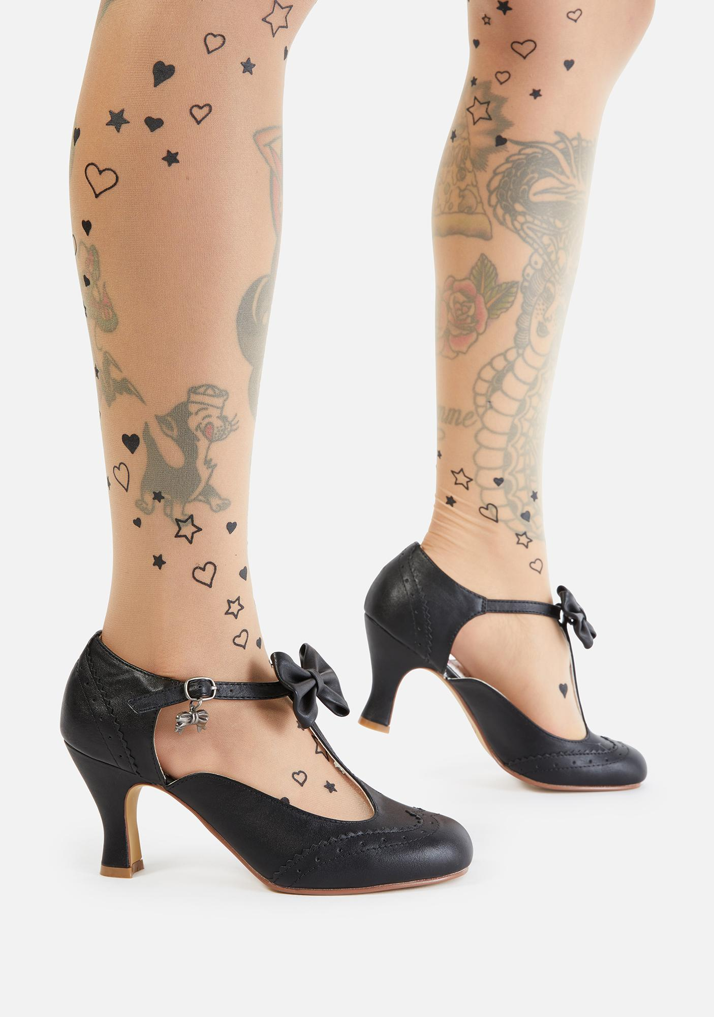 Pin Up Couture Flapper Bow Tie Heels