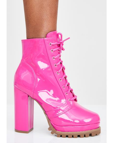 Bodak Big Girl Crush Lace Up Boots