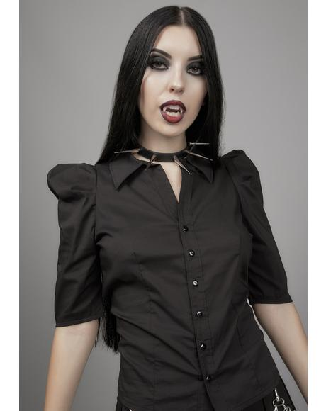 Gothic Romance Button Up Blouse