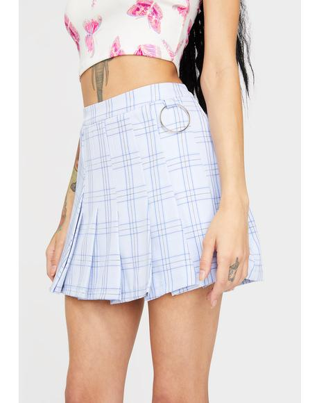 Lesson Learned Plaid Skirt
