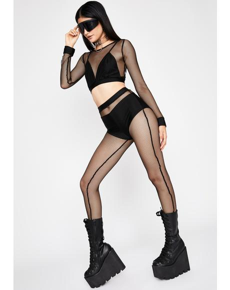 Sly Stunna Fishnet Pant Set