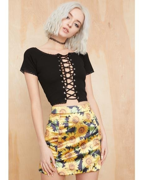 Eternal Sunshine Satin Skirt