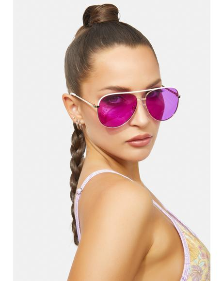 Purp Sidewalk Slam Aviator Sunglasses