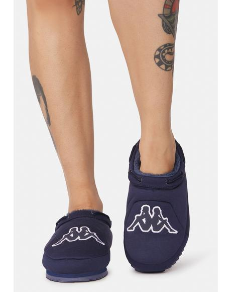 Marine Blue Logo Tasin Sneaker Mules