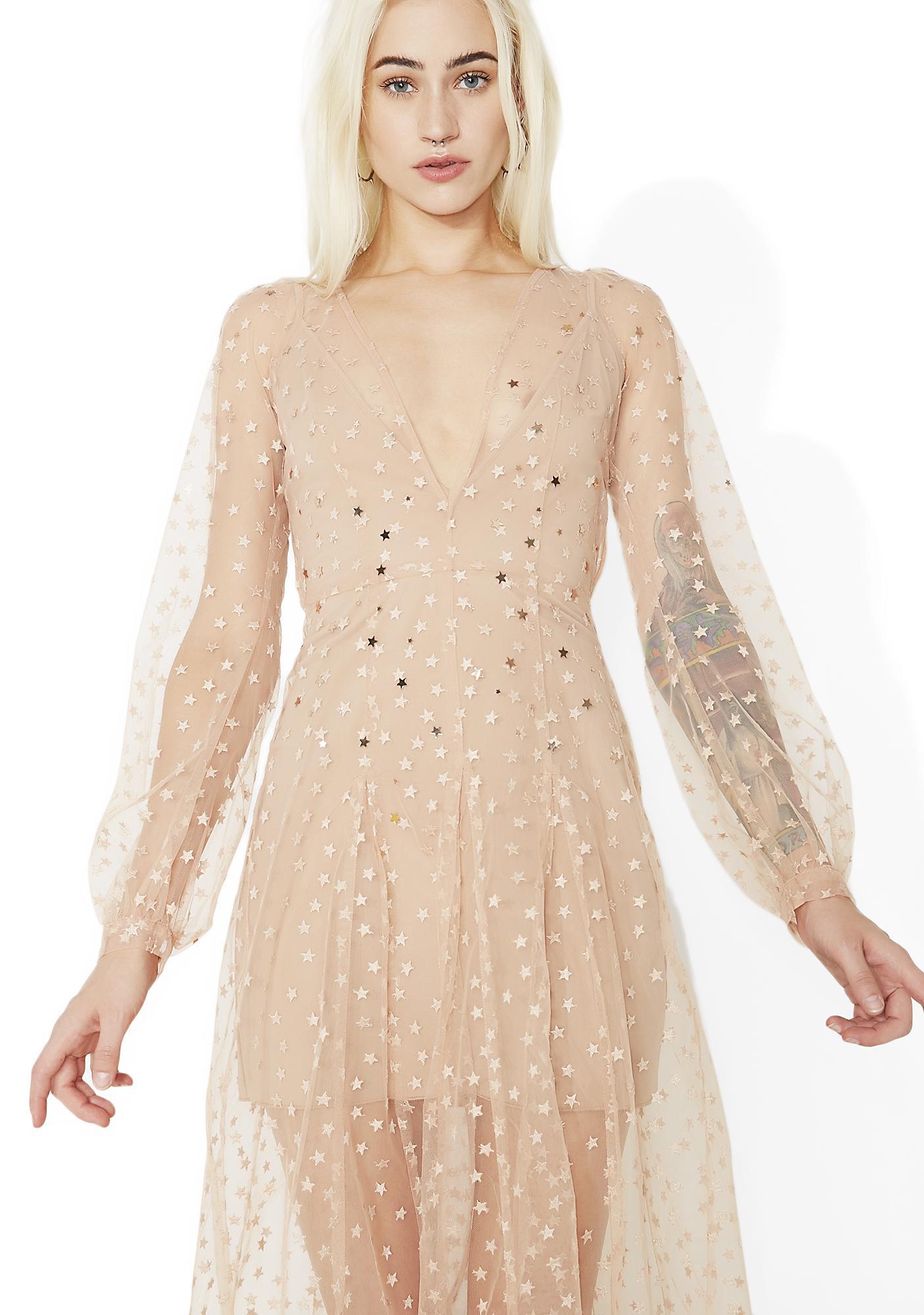 For Love & Lemons All That Glitters Maxi Dress