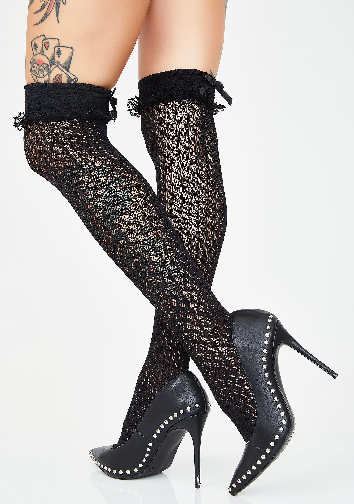 Luv To Luv Pointelle Socks