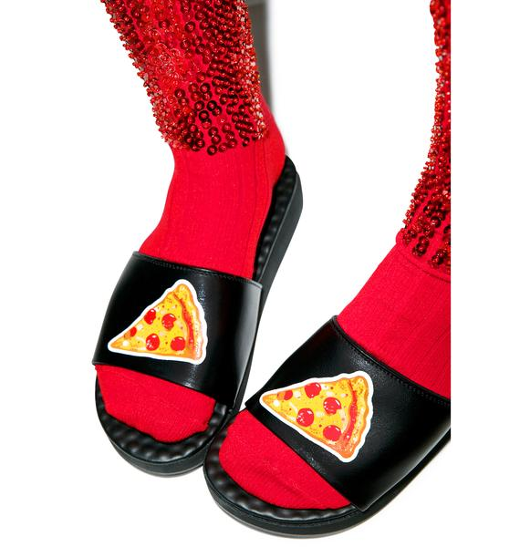 O Mighty Pizza Bae Slide Sandals