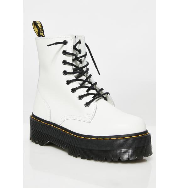 Dr. Martens White Jadon 8 Eye Boots
