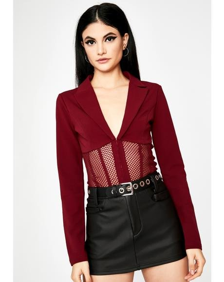 Burn For The Record Cropped Blazer