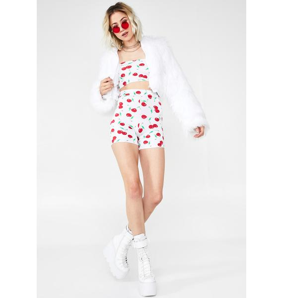$A$$YPANT$ U Are Cherry Sweet Cycling Shorts Set