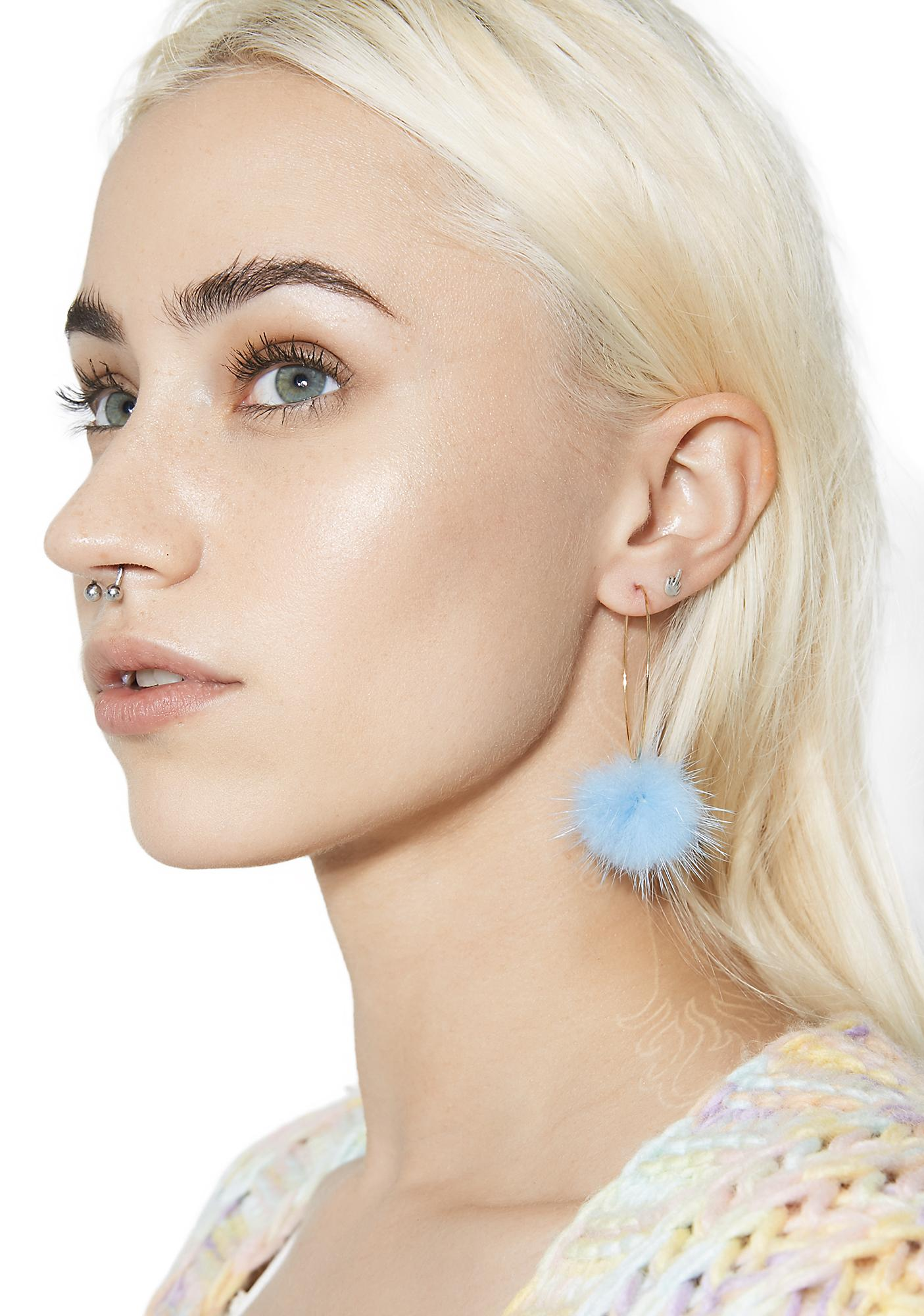 Cloud Chaser Hoop Earrings