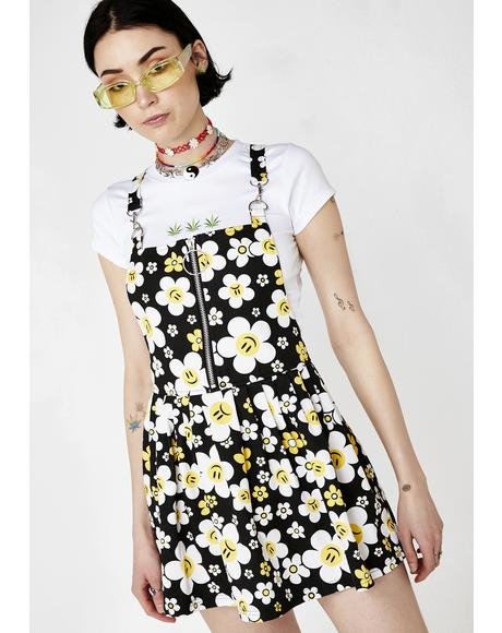 Hazy Daisy Overall Dress