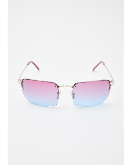 Purple Blue Sweet Fire Tinted Sunglasses