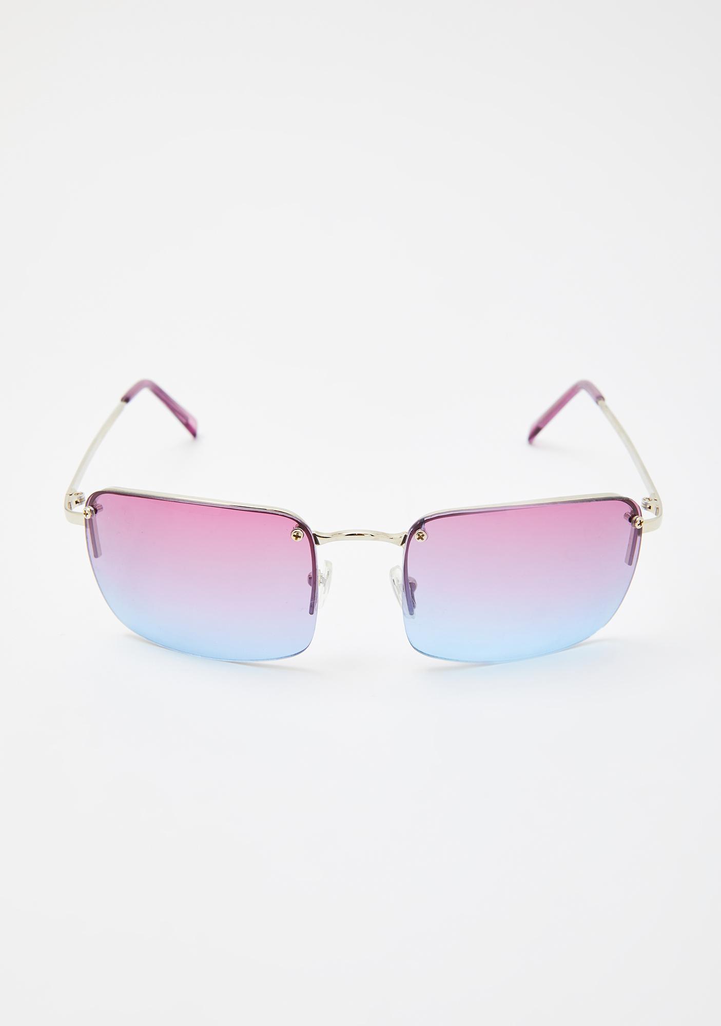Good Times Eyewear Purple Blue Sweet Fire Tinted Sunglasses