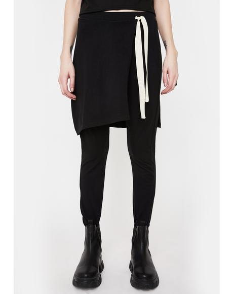 Black Terra Skirt Joggers