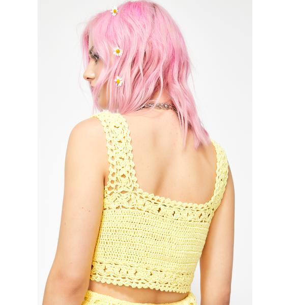 Bee Cordially Delightful Crochet Top
