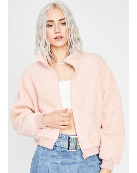 Blush Take Me Home Sherpa Jacket